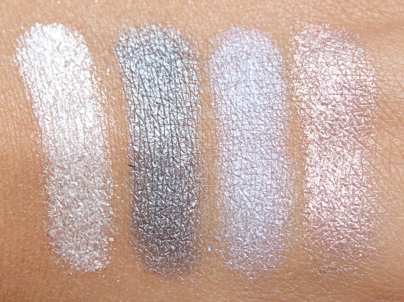 Make up for ever Midnight glow 8 eye shadow palette swatch1