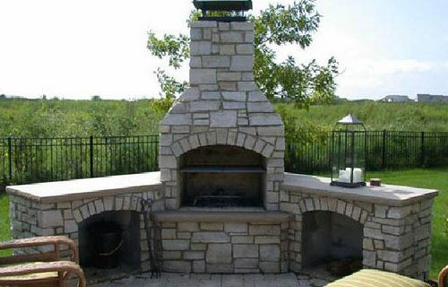 Outdoor Stone Fireplace Kits Flickr Photo Sharing