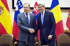 Secretary Kerry Poses for a Photo With Russian Foreign Minister Lavrov