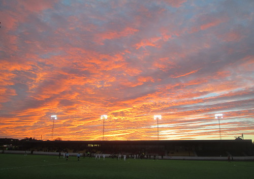 Red Sky Over Shielfield Park, Berwick 1