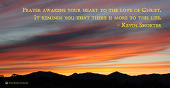 Prayer Awakens the Love of Christ Sunrise