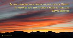 Prayer Awakens the Love of Christ Sunrise