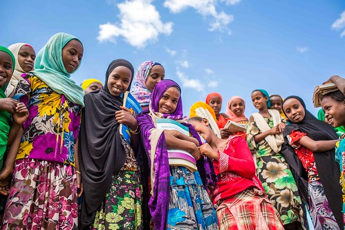 Members of girls club at Tutis Primary School in Oromia State of Ethiopia