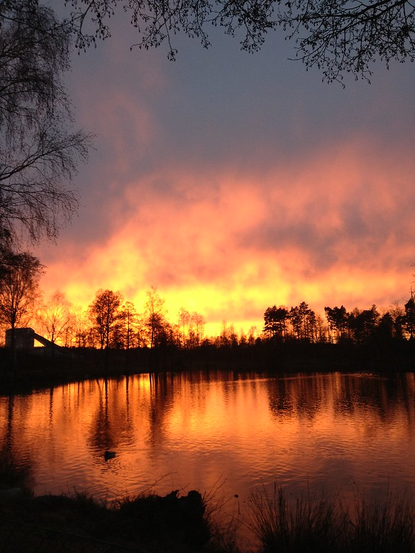 sunset, jeans damm, perstorp