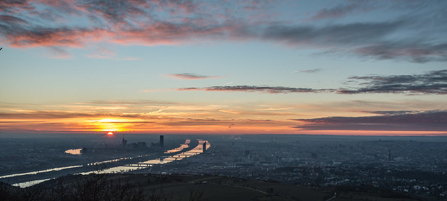 Sunrise over Vienna