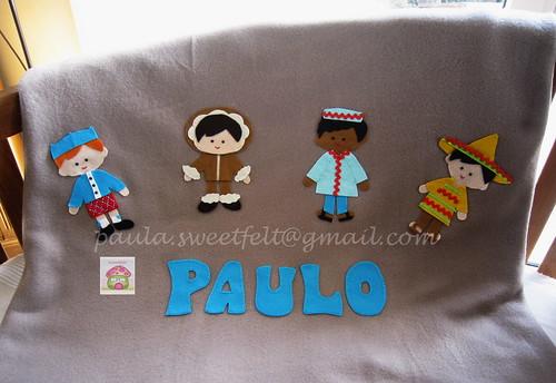 ♥♥♥ Uma mantinha quentinha para o Paulo... by sweetfelt \ ideias em feltro