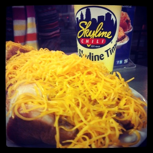 More @Skyline_chili time with @genmae5! #CheeseConeys!