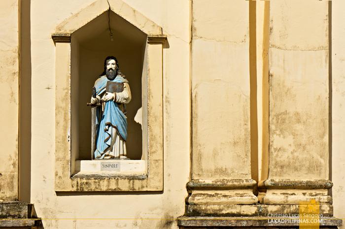 Facade Detail of St. Catherine Church in Mambusao, Capiz