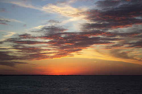 sunset harbor day cloudy south charleston carolina