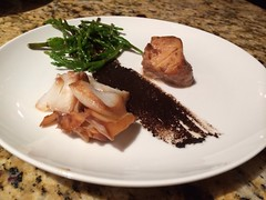 cod with black garlic