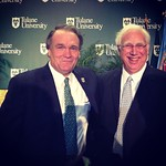 President Elect Michael Fitts and current President Scott Cowen at today's announcement of Fitts' hiring. He most recently served as the dean of the law school at the University of Pennsylvania #tulane #tufitts #onlyattulane #onlyinneworleans