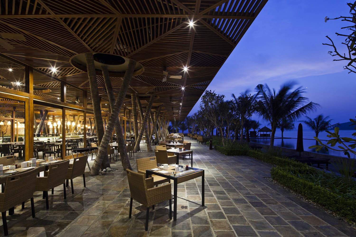 Bacaro Restaurant of Amiana Resort design Hùng Hưng-Lib.A