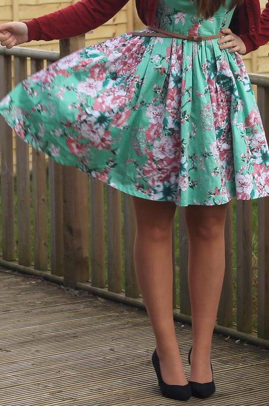 Voodoo Vixen floral dress, blogger