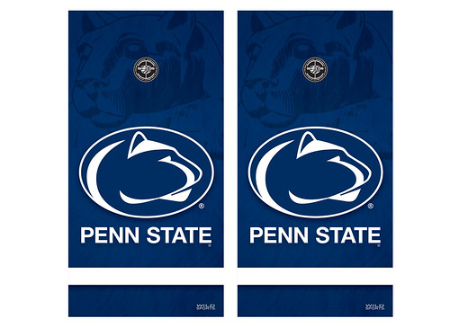 Penn State Cornhole Game Decal Set