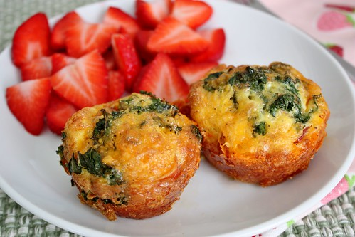 Cheddar Kale Breakfast Muffins - Life at Cloverhill