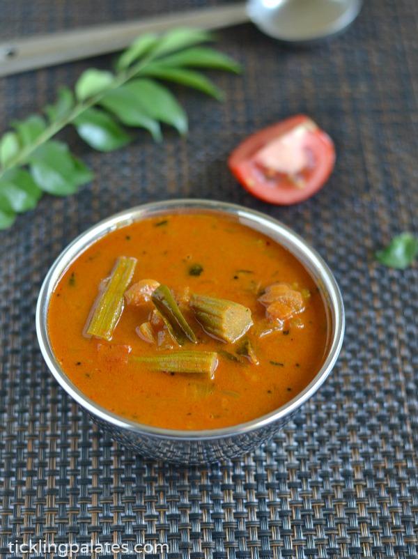 Murungakkai Puli Kuzhambu Recipe