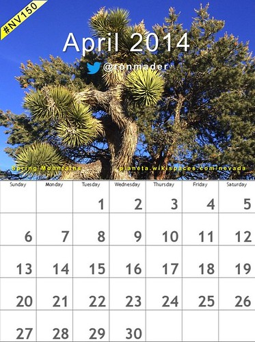 Free! April 2014 Calendar: Spring Mountains #nv150
