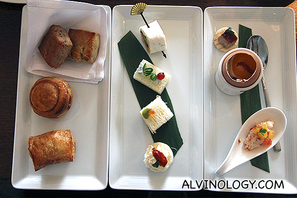 Savoury spread of canapé