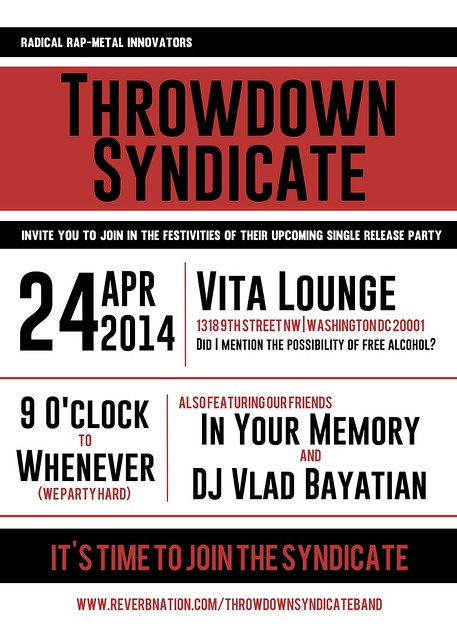 Throwdown Syndicate at Vita Lounge