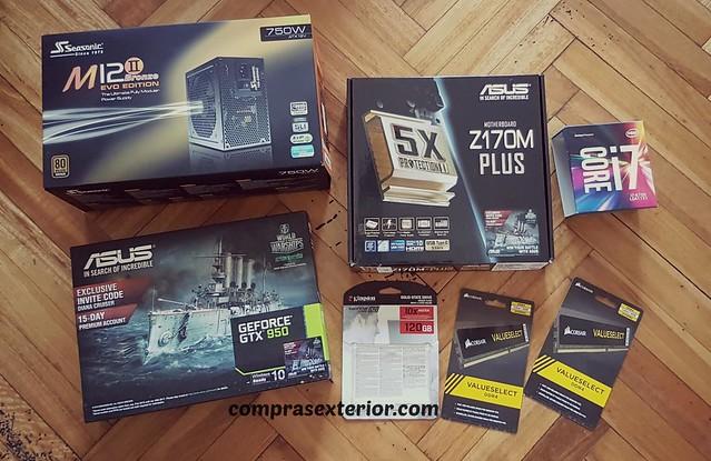componentes de la pc gamer