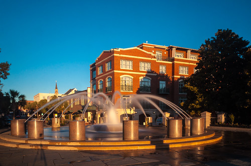 charleston chs southcarolina sc downtown waterfrontpark sunrise fountain venduerange