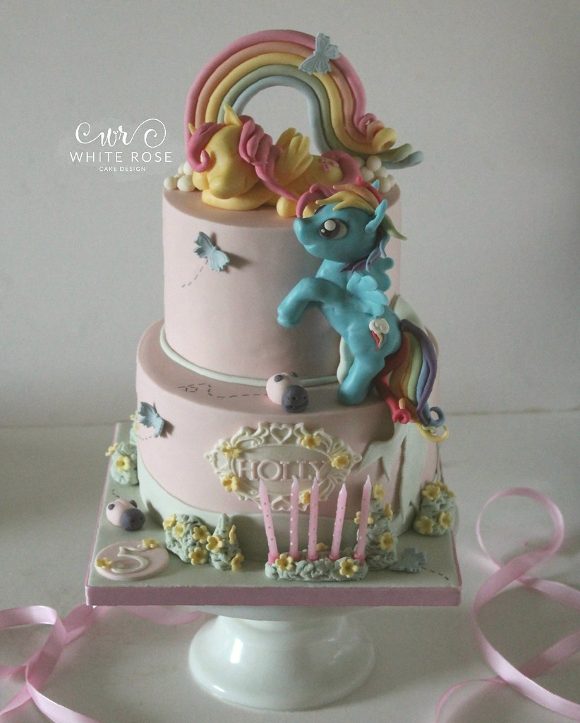 My Little Pony 5th Birthday Cake By White Rose Cake Design Flickr