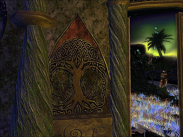 Enchanted Art - Steele Manor Oak Door