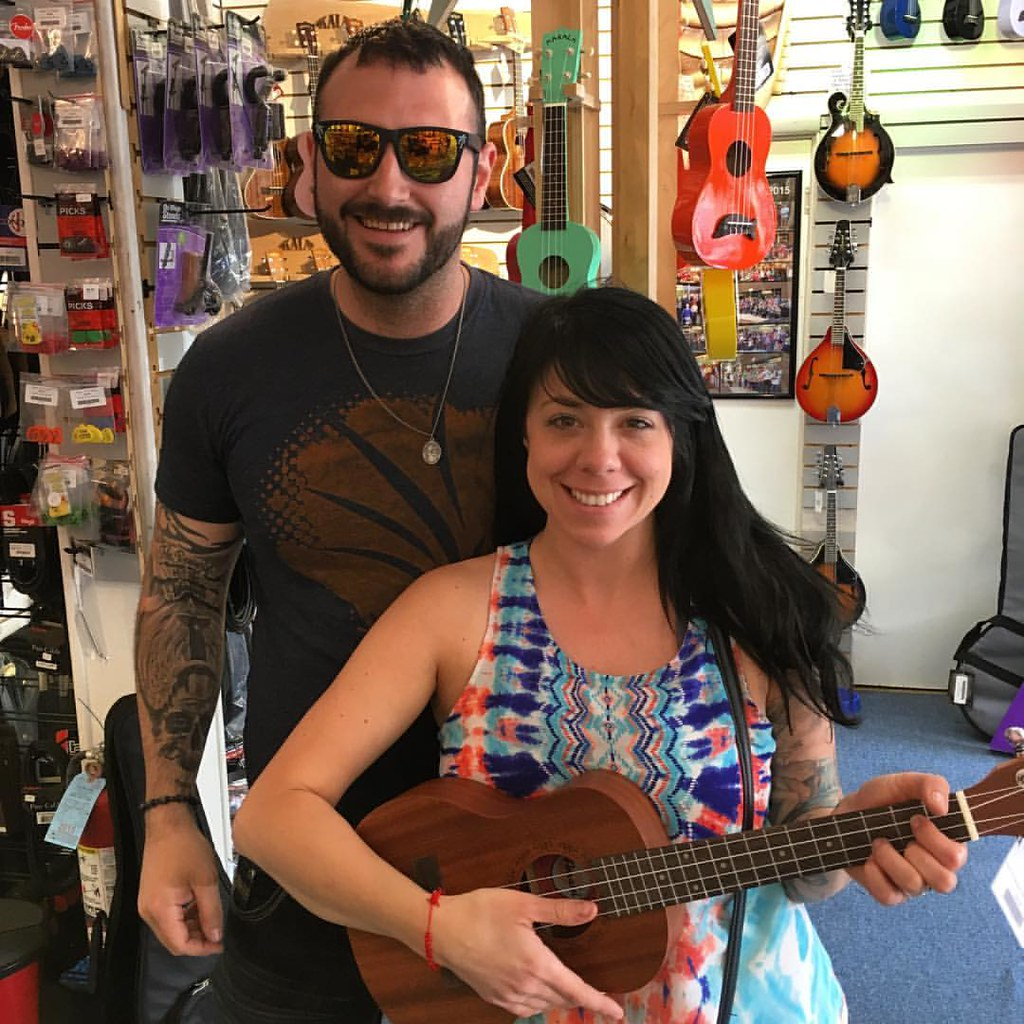 Jake and Valerie with their new ukulele!