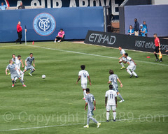 MLS Soccer Game at Yankee Stadium, The Bronx, New York City