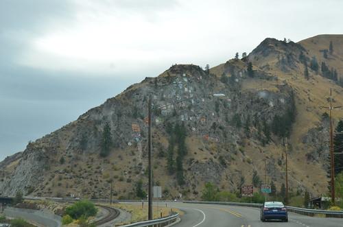 Felsen bei der Mündung des Entiat Rivers