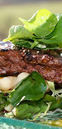 Jordan Hanger Steak and Asparagus Salad