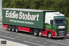 Volvo FH 6x2 Tractor - PX10 DHJ - Joyce Amy - Eddie Stobart - M1 J10 Luton - Steven Gray - IMG_9459