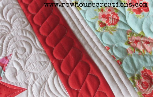 pattern #5 quilting (sneak peek!)