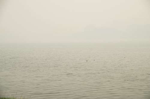 Into the smog - Haze has reduced visibility at Bedok Reservoir in the eastern part of Singapore