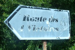 Signpost for the Route of the 4 Victories of the The Six Days Campaign (10–14 February 1814) - Photo of Montolivet