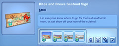 Bites and Brews Seafood Sign