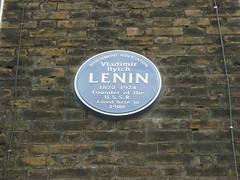 Photo of Vladimir Ilyich Lenin blue plaque