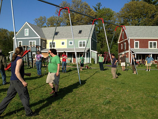 Mosaic Commons swingset, courtesy Diana Carroll
