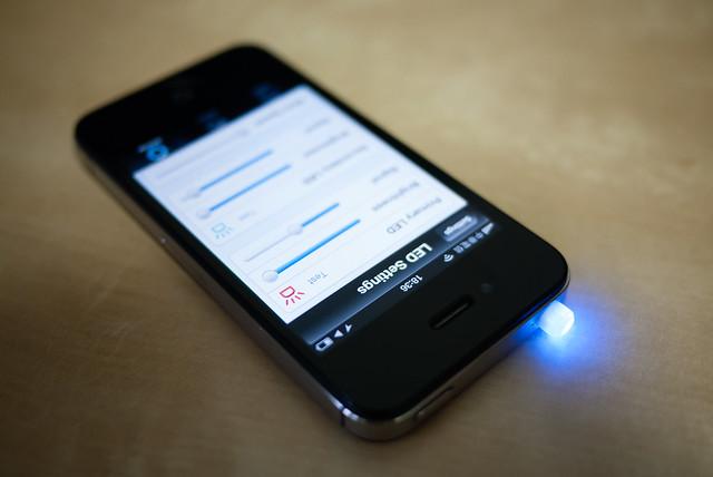 myLED 的藍色通知燈