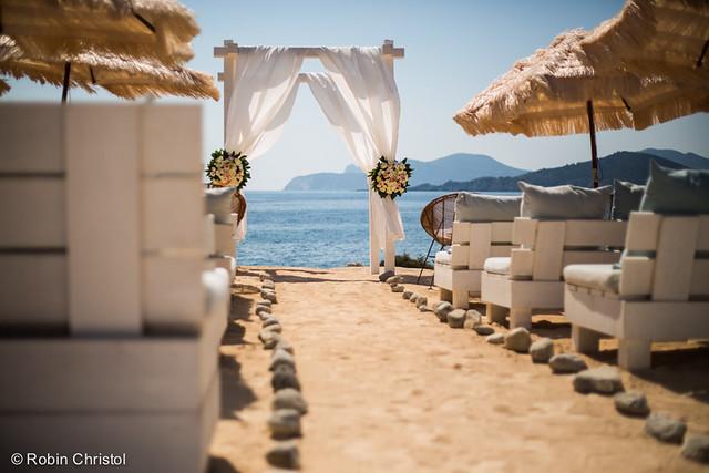 Experimental Beach Ibiza, Ibiza beach wedding venue