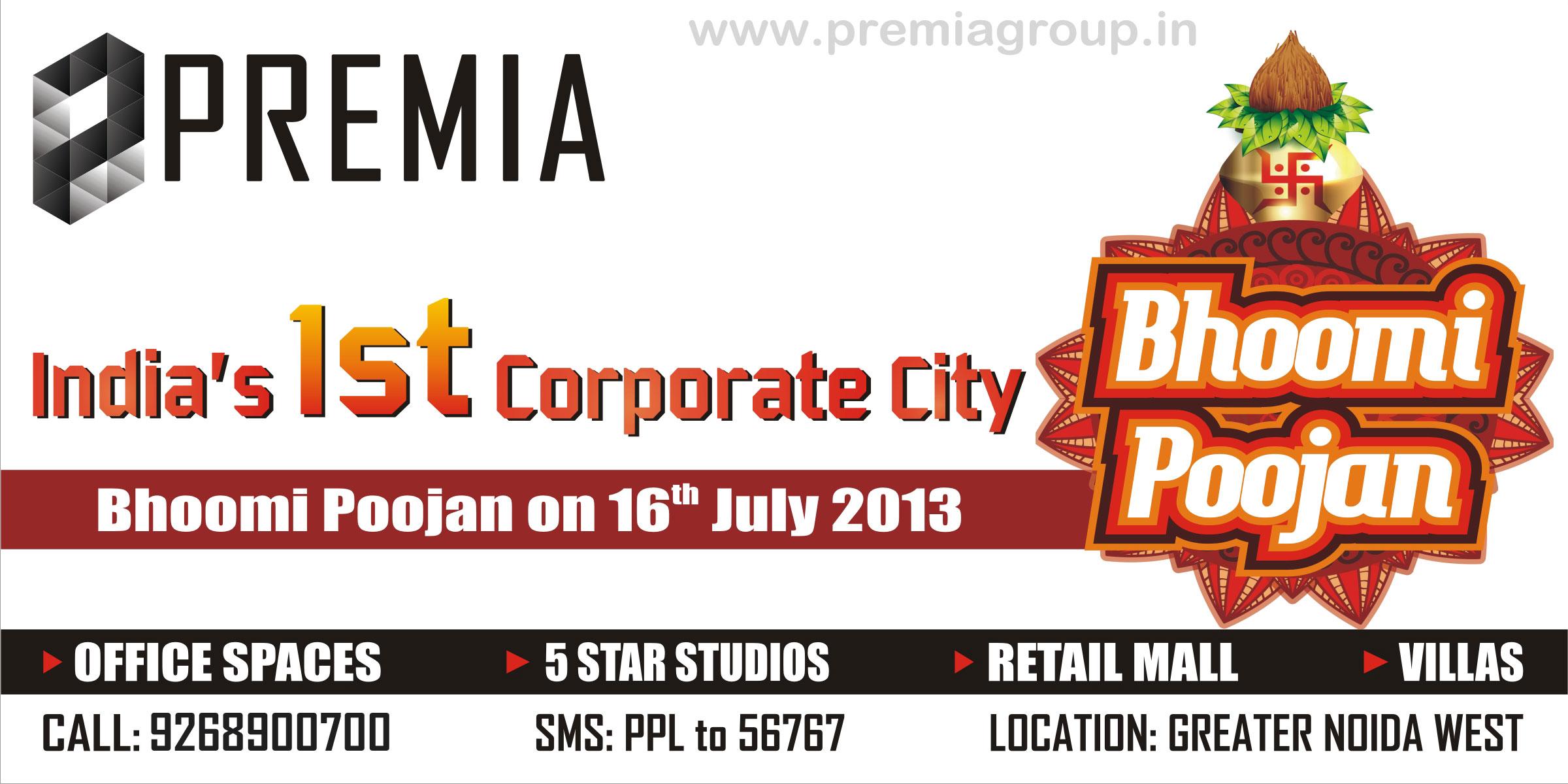 Premia Corporate City Bhumi Poojan