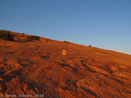The trail up to Delicate Arch is beautiful near sunset, Arches National Park, Utah