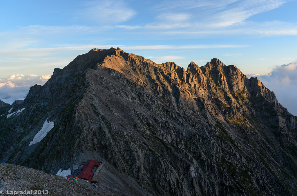 20130803 穂高岳山荘と奥穂高岳