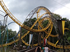 Loch Ness Monster Roller Coaster interlocking loops