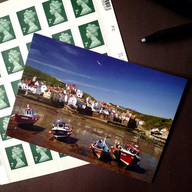 #postcard #postcrossing #postagestamp #harbour #boats #england #yorkshire #slaithesharbour #snailmailrevolution #seaside #sendmoremail #snailmail