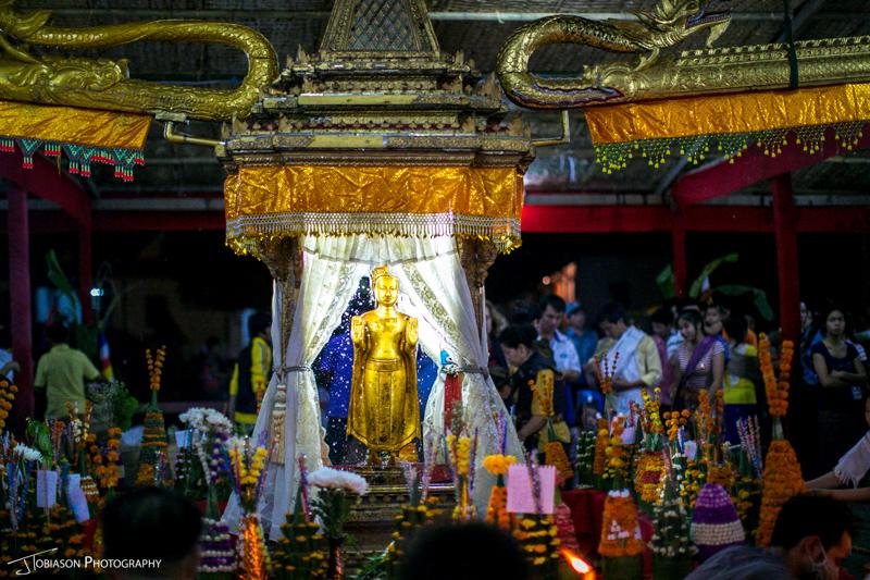 Luang Prabang washing buddha