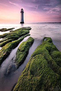 Perch Rock lighthouse.