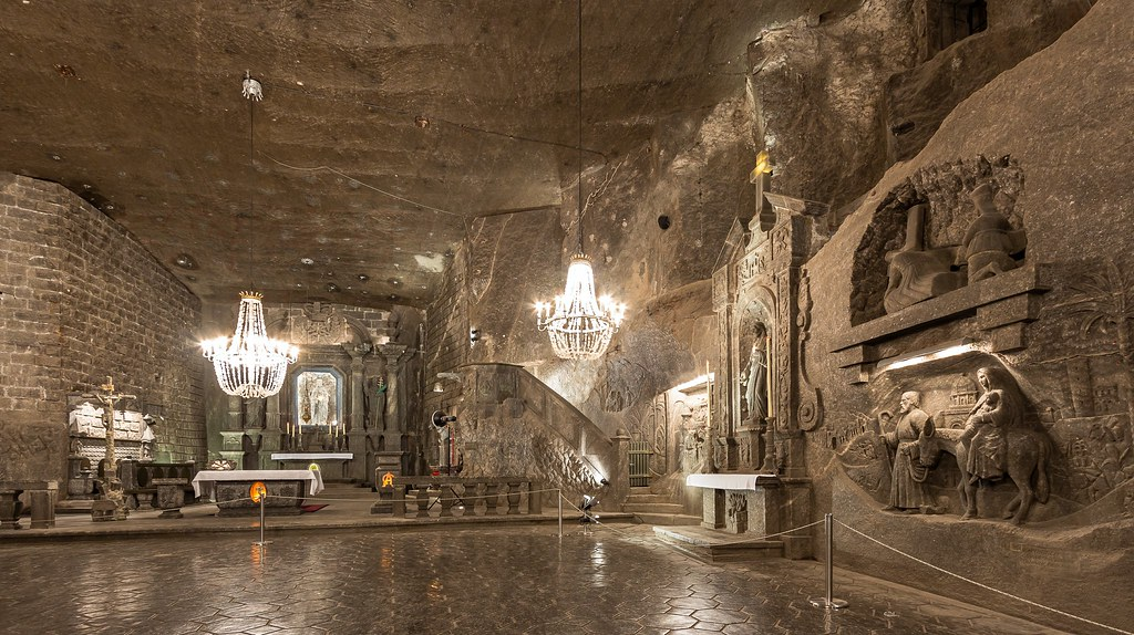 The magnificent underground St. Kinga´s chapel, Salt Mine Wieliczka Poland (UNESCO world heritage site)