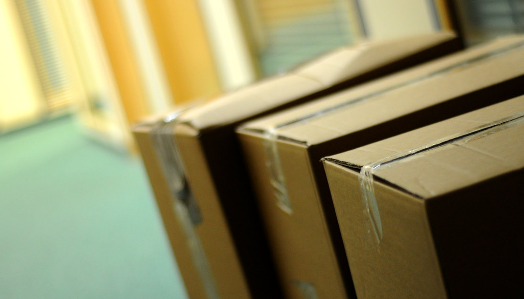 Boxes in an Office Corridor