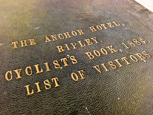 Anchor hotel, Ripley, Cyclists Visitor Book 1884